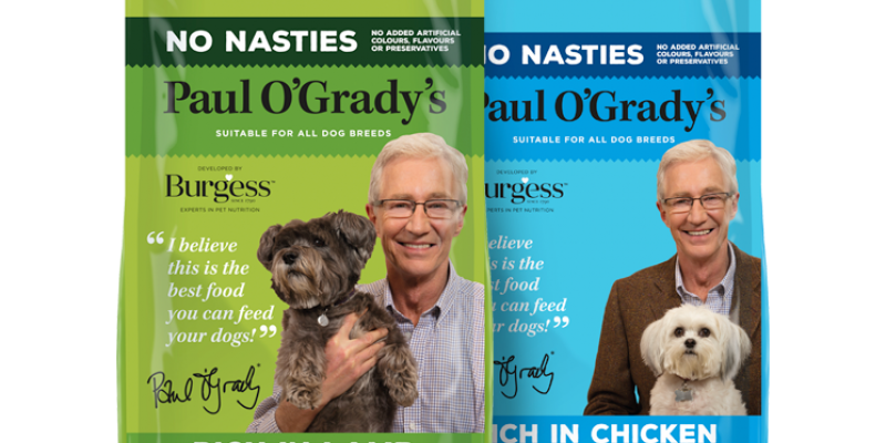 Paul O'Grady No Nasties Dog Food now in store